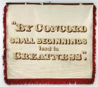 Tailors trade banner, Portland, 1841