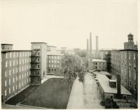 Interior courtyard at the Pepperell Mills, Biddeford, ca. 1894
