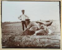 Children at beach, Lubec, ca. 1903