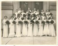 John Bapst Class of 1936 Female Graduates, Bangor, ca. 1936