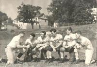 John Bapst Football Players and Coach, Bangor, ca. 1947