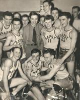 John Bapst boys basketball team and coach, Bangor, ca. 1948