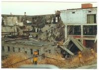 American Can plant demolition, Lubec, 1993