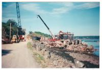 American Can plant demolition, Lubec, 1995