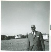 James Roosevelt at Roosevelt Bridge dedication, Lubec, 1962