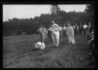 Sack racing, Scarborough, 1920