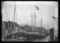 Ships at wharf, Portland, ca. 1922