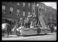 Maine Centennial Float #4 in Historic Floats Parade, Portland, 1920