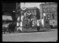 Statehood float, Maine Centennial, Portland, 1920