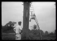 Ladder climb competition at Portland Kiwanis reunion, Scarborough, 1920
