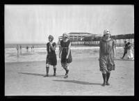 Women in swim dresses, Old Orchard Beach, ca. 1920