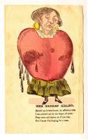 Broken heart valentine, ca. 1840