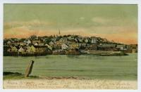 View of Lubec waterfront from Campobello, ca. 1906