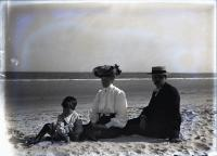 Moody Family on Beach, Camp Ellis, ca. 1906