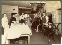 Laundry interior, Lubec, ca. 1900