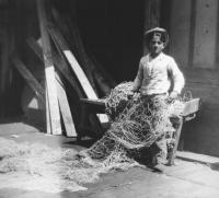 Boy with a fishing net, Portland, ca. 1930
