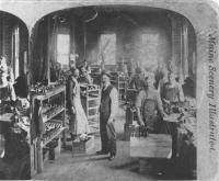Shoe factory, Portland, ca. 1875