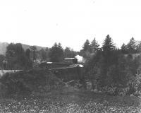 Sandy River railroad trestle, Strong, ca. 1890