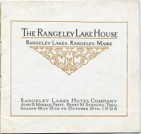 Rangeley Lake House brochure, 1906