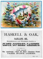 Haskell & Oak advertising, Garland, ca. 1890