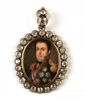 Brooch with Don Juan VI miniature, Portugal, 1824