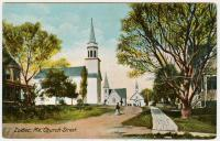 Three churches, Lubec, ca. 1907