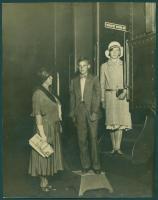 Helen King with school children, Portland, 1931