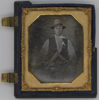 Carpenter holding a square, ca. 1850