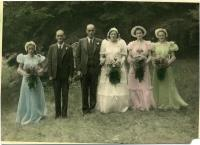 Robinson-Mitchell wedding party, Peru, 1939
