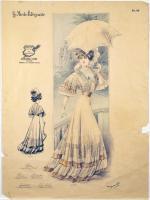 Paris fashion illustration, ca. 1900