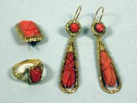 Emily Ilsley Cummings coral jewelry, Portland, ca. 1800