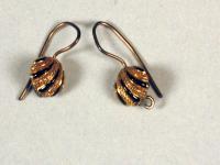 Gold shell earrings, ca. 1880