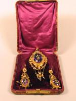 Claudia Wigglesworth brooch and earrings, ca. 1860