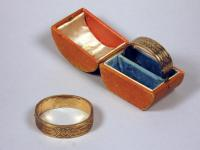 Gold and enamel bracelets, Portland, ca. 1900