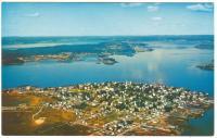 Aerial view, Lubec, ca. 1964