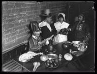 Thanksgiving pageant, Woolson School, Portland, 1923