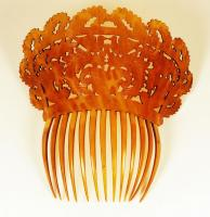 High back hair comb, Portland, ca. 1810
