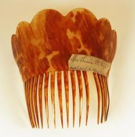 Susan W. Boyd hair comb, Portland, ca. 1840