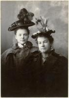 Young women in hats, Freeport, ca. 1900