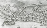Birds eye view map, Hallowell, 1878