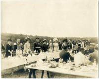 Lobster dinner, Augusta, ca. 1900