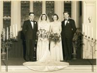 Frances Batty-Robert Stahl wedding, South Portland, 1942