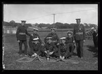 British Royal Marines tug of war team, Portland, 1920