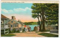 View down Main Street, Lubec, ca. 1930
