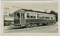 Semi-convertible trolley car, Portland, 1935
