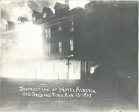 Destruction of Hotel Alberta, Old Orchard Beach, 1907