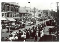 Parade on Main Street, Saco ca. 1905