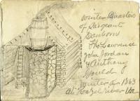 Sgt. James Sanborn drawing, Virginia, 1863
