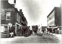 Railroad crossing and York Square, Saco, ca. 1880