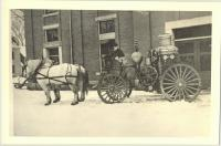 John Fairfield and steam pumper, Saco, ca. 1900